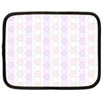 Allover Graphic Soft Pink Netbook Sleeve (Large) Front