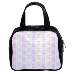Allover Graphic Soft Pink Classic Handbag (Two Sides)