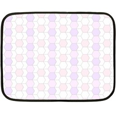 Allover Graphic Soft Pink Mini Fleece Blanket (two Sided)