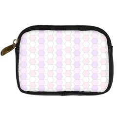 Allover Graphic Soft Pink Digital Camera Leather Case