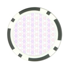 Allover Graphic Soft Pink Poker Chip (10 Pack)