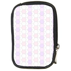 Allover Graphic Soft Pink Compact Camera Leather Case