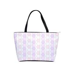 Allover Graphic Soft Pink Large Shoulder Bag