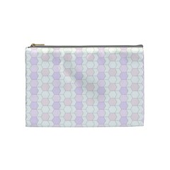 Allover Graphic Soft Pink Cosmetic Bag (medium)
