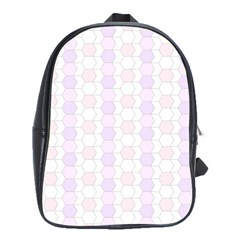 Allover Graphic Soft Pink School Bag (Large)