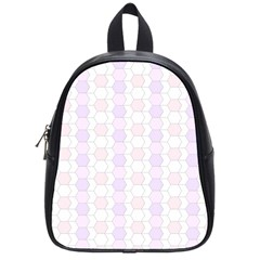 Allover Graphic Soft Pink School Bag (Small)
