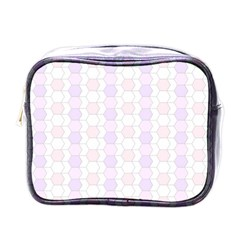 Allover Graphic Soft Pink Mini Travel Toiletry Bag (One Side)
