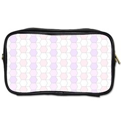 Allover Graphic Soft Pink Travel Toiletry Bag (One Side)