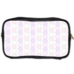 Allover Graphic Soft Pink Travel Toiletry Bag (One Side) Front