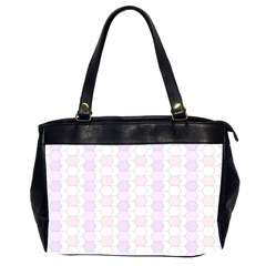 Allover Graphic Soft Pink Oversize Office Handbag (Two Sides)
