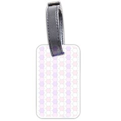 Allover Graphic Soft Pink Luggage Tag (One Side)
