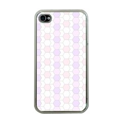 Allover Graphic Soft Pink Apple Iphone 4 Case (clear)