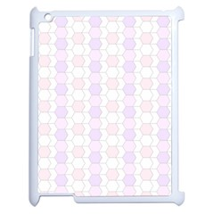 Allover Graphic Soft Pink Apple iPad 2 Case (White)