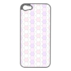Allover Graphic Soft Pink Apple iPhone 5 Case (Silver)