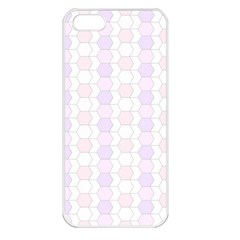 Allover Graphic Soft Pink Apple Iphone 5 Seamless Case (white)