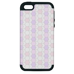 Allover Graphic Soft Pink Apple Iphone 5 Hardshell Case (pc+silicone)