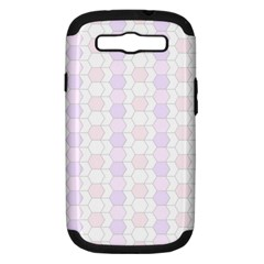 Allover Graphic Soft Pink Samsung Galaxy S III Hardshell Case (PC+Silicone)