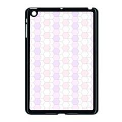 Allover Graphic Soft Pink Apple iPad Mini Case (Black)
