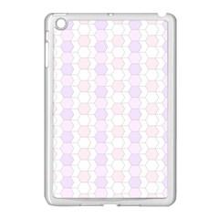 Allover Graphic Soft Pink Apple iPad Mini Case (White)