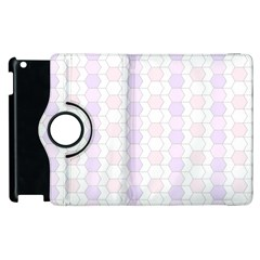 Allover Graphic Soft Pink Apple iPad 3/4 Flip 360 Case