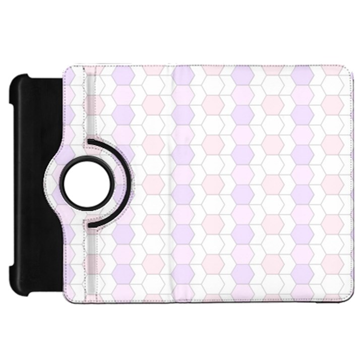 Allover Graphic Soft Pink Kindle Fire HD 7  (1st Gen) Flip 360 Case