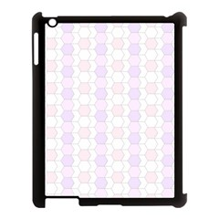 Allover Graphic Soft Pink Apple iPad 3/4 Case (Black)