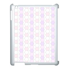 Allover Graphic Soft Pink Apple iPad 3/4 Case (White)