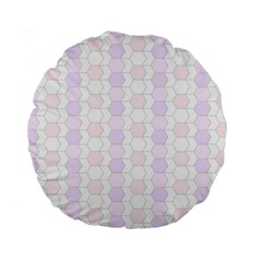 Allover Graphic Soft Pink 15  Premium Round Cushion