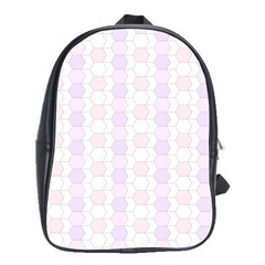 Allover Graphic Soft Pink School Bag (xl)