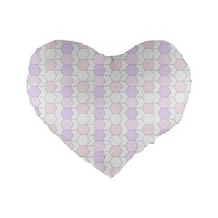 Allover Graphic Soft Pink 16  Premium Heart Shape Cushion