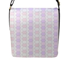 Allover Graphic Soft Pink Flap Closure Messenger Bag (large)