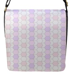Allover Graphic Soft Pink Flap Closure Messenger Bag (Small)