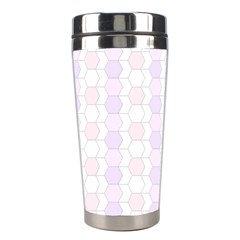 Allover Graphic Soft Pink Stainless Steel Travel Tumbler