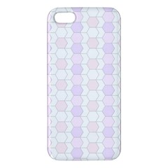 Allover Graphic Soft Pink iPhone 5S Premium Hardshell Case