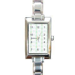 Allover Graphic Soft Aqua Rectangular Italian Charm Watch