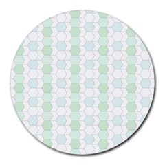 Allover Graphic Soft Aqua 8  Mouse Pad (round)