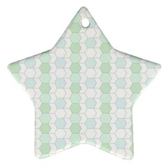 Allover Graphic Soft Aqua Star Ornament