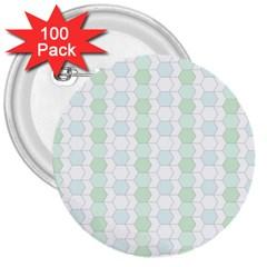 Allover Graphic Soft Aqua 3  Button (100 pack)