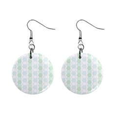 Allover Graphic Soft Aqua Mini Button Earrings