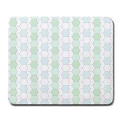 Allover Graphic Soft Aqua Large Mouse Pad (Rectangle)