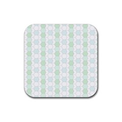 Allover Graphic Soft Aqua Drink Coasters 4 Pack (Square)