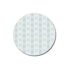 Allover Graphic Soft Aqua Drink Coasters 4 Pack (round)