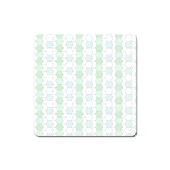 Allover Graphic Soft Aqua Magnet (square)