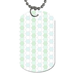 Allover Graphic Soft Aqua Dog Tag (Two-sided)