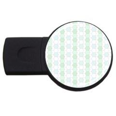 Allover Graphic Soft Aqua 2gb Usb Flash Drive (round)