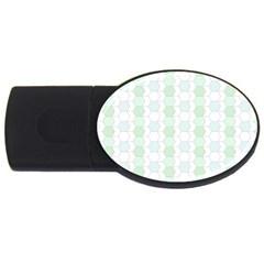 Allover Graphic Soft Aqua 1GB USB Flash Drive (Oval)