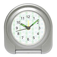 Allover Graphic Soft Aqua Desk Alarm Clock