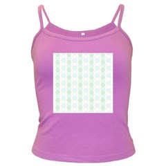 Allover Graphic Soft Aqua Spaghetti Top (Colored)