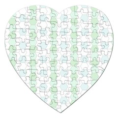 Allover Graphic Soft Aqua Jigsaw Puzzle (Heart)