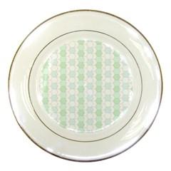 Allover Graphic Soft Aqua Porcelain Display Plate